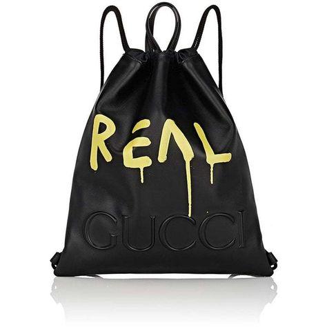 Gucci Men s GucciGhost Small Drawstring Backpack ( 1 0cfb4f596fe3e