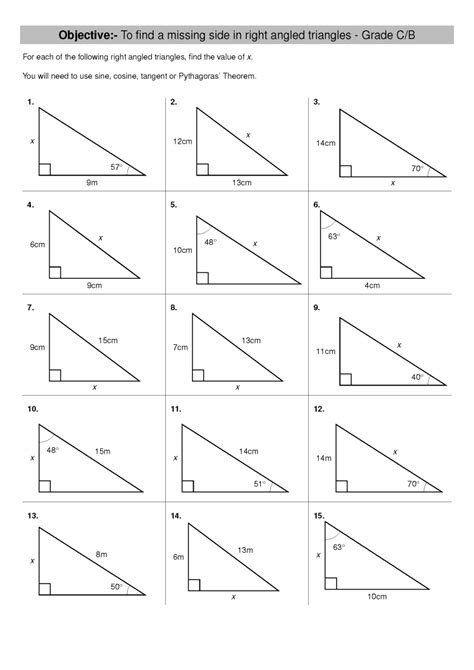 Finding Angle Measures Worksheet Download Missing Side Missing Angle Geometry Worksheet Kuta Angles Worksheet Trigonometry Worksheets Geometry Worksheets