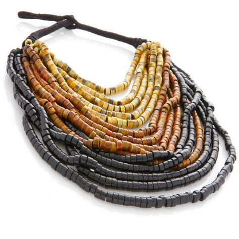 Necklace | Rara Avis by Iris Apfel. Wood Beads