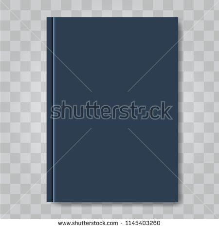 Vector Book Cover Mock Up Dark Blue Color Ready Template Blank White Vertical Design Template Book Cover Dark Blue Color Vertical Design