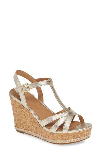 bc02b95462c UGG® Melissa Metallic Wedge Sandal (Women) in 2019 | The Top Sandals ...