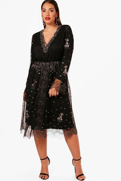 5171b1efb12 Plus Size Sparkling Color Sequins Party Dress in 2019