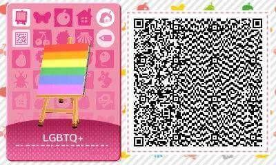 Lgbtq Pride Flag Animal Crossing Qr Codes Animal Crossing Qr