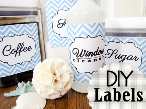 DIY Pantry and Cleaning Labels