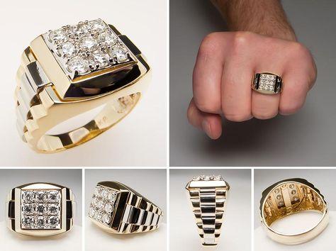 Do Men Wear Diamond Rings? | Men diamond ring, Rings for men