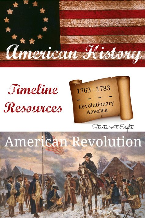 American History Timeline Resources: American Revolution from Starts At Eight is. American History Timeline Resources: American Revolution from Starts At Eight is. Teaching American History, American History Lessons, Canadian History, Teaching History, African American History, American Revolution Timeline, European History, History Classroom, History Education