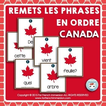 Canada French Sentence Builders Sentence Builder French Sentences Sentences