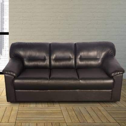 Godrej Interio Rio Sofa 3 Seater Leatherette Black 5 Seater Sofa Set Carbo Sofa Set 3 1 1 Seater In Black Colour By Godrej In 2020 Sofa Set Price Sofa Brown Sofa Set