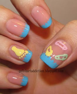 Polish Art Addiction: Baby Themed (Will have this done before going into labor) or Babyshower