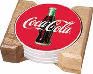 Exceptional Coca Cola Home Decor | Coca Cola Coke Coasters Traditional Bottle Style  With Caddy