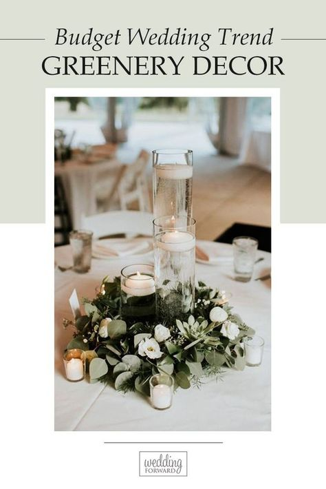 Greenery wedding decor is easy way to add nature and style to your reception. Greenery is a wonderful alternative to florals, that will give a lush look. #weddings #decoration #bridaldecorations #greeneryweddingdecor