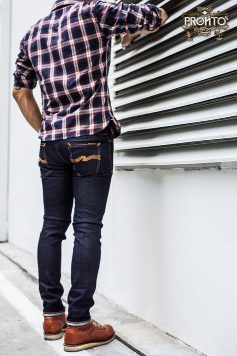 Boots Mens Jeans Outfit Ideas – Men's style, accessories, mens fashion trends 2020 Casual Jeans, Men Casual, Edwin Jeans, Red Wing Boots, Nudie Jeans, Men's Jeans, Mens Boots Fashion, Raw Denim, Men's Denim