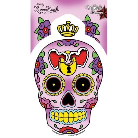 dead of the dead sugar skull decal $3.50