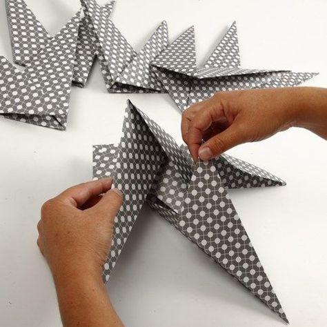Une étoile à 7 pieds faite à partir de carrés |DIY instruction