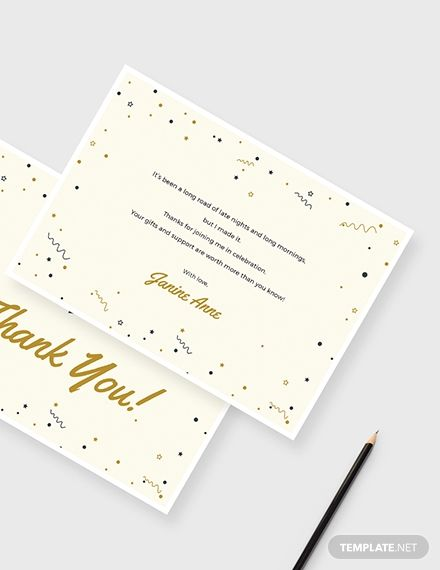 Graduation Thank You Card Template Word Doc Psd Apple Mac Pages Illustrator Publisher Graduation Thank You Cards Thank You Card Template Business Thank You Cards