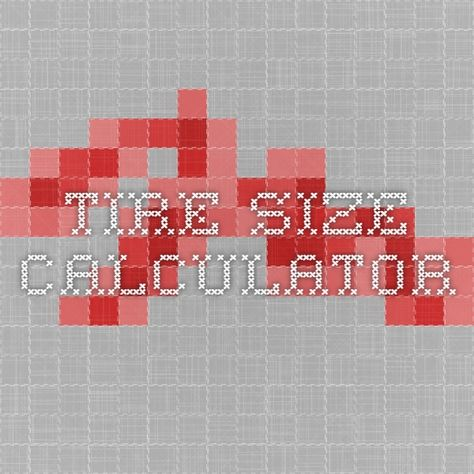 Tire size calculator that compares 2 different tire sizes and includes a visual aid.