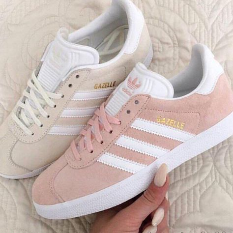 742a4c037dde28 Womens Adidas Gazelle LifeStyle Shoes Pink on We Heart It