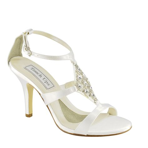 c8dd7a631 Beautiful and comfortable strappy heel with diamond shaped sparkles in the  front $74