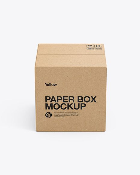 Download Kraft Box Mockup Side View High Angle Shot In Box Mockups On Yellow Images Object Mockups Box Mockup Mockup Free Psd Free Packaging Mockup