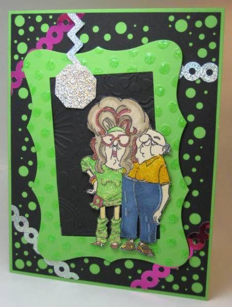 Green Disco Ball Party Thank You Cards