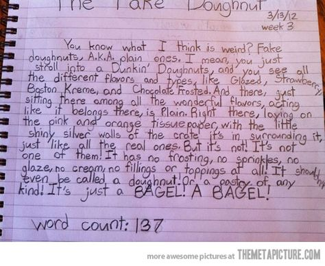 12-year-old speaks out about plain donuts…