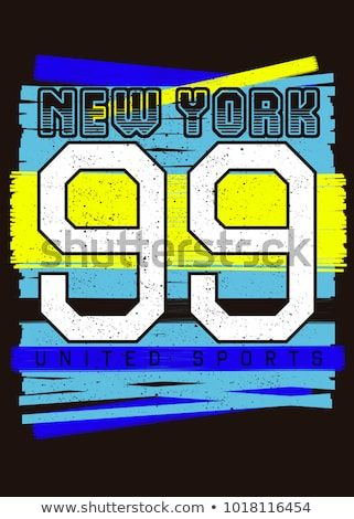 e9581883 new york sports kids poster vector apparel colorful distress | New ...