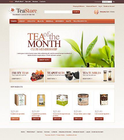 Teapot OsCommerce Template Ui design - club membership template