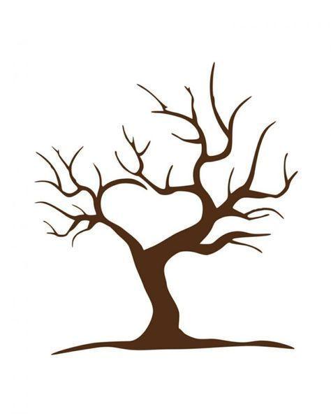 Ein Kahler Baum Als Vorlage Zum Individuellen
