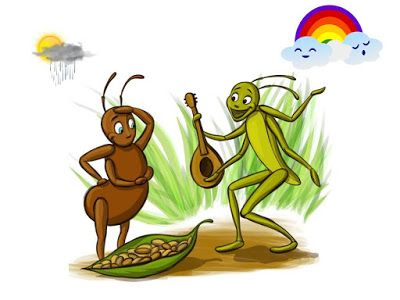 graphic relating to The Ant and the Grasshopper Story Printable titled The Ant and the Grhopper The Ant and the Grhopper