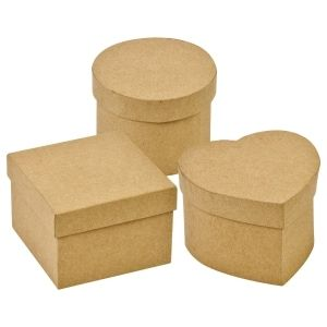 These Paper Mache Boxes Are Perfect For Crafts Decorate These Boxes Any Way You Want And Keep Them At Home Paper Mache Boxes Kids Craft Box Dollar Tree Store