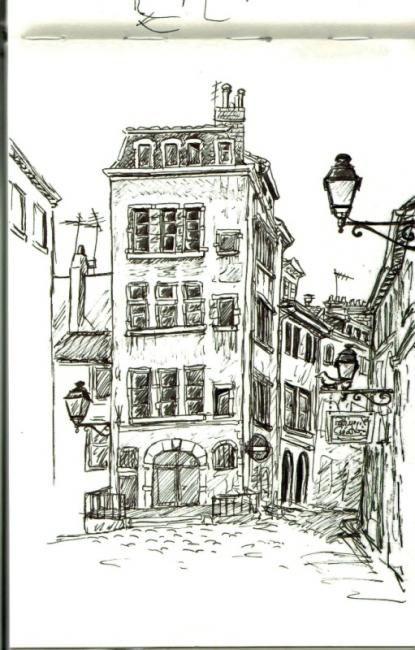 Rue Du Vieux Lyon Vieux Lyon Maison Dessin Rue