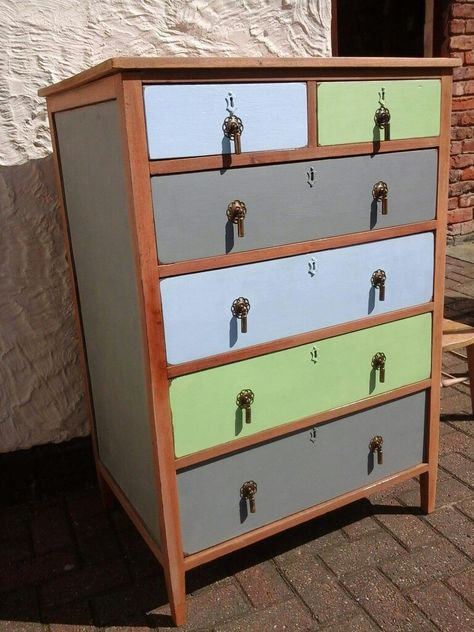 Recycle Update Ans Reclaim With Vintro Chalk Paint Available In 45 Fabulous Colours These Vintage Drawers Have Been P Vintage Drawers Home Decor Sweet Home