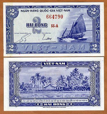 ND South Vietnam 1955 2 dong Pick 12 aUNC