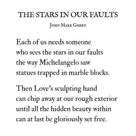 The Stars in Our Faults by John Mark Green