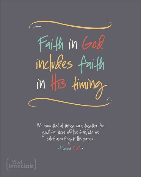 Wall Art (LifePrints) - Faith in God (grey, yellow, teal, orange, creme) Romans 8:28 - 8 x 10 Print