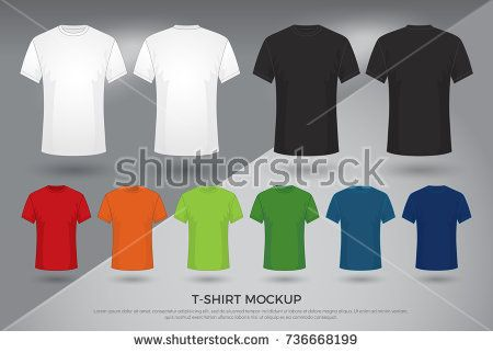 Download Men S T Shirt Mockup Set Of Black White And Colored T Shirts Templates Design Front And Back View Shirt Mock Up Shirt Mockup Template Design Shirt Template