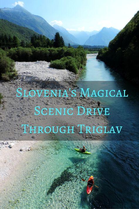 Scenic Drive Through Triglav, Slovenia