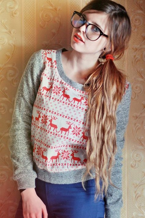 perfect sweater for fall =) Reindeer Prance Sweater - OUTERWEAR $40 from @sugarlips