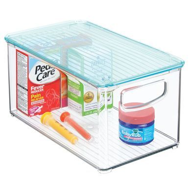 Plastic Kids Supplies Storage Bin With Lid 10 X 6 X 5 Storage Bins With Lids Storage Bins Storage