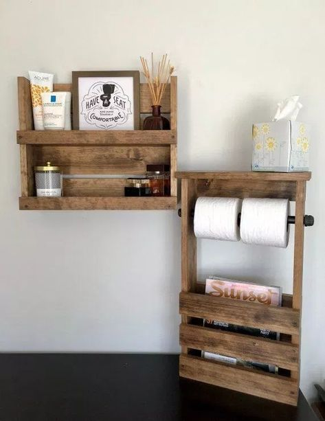 Brilliant Wooden Pallet Furniture Ideas 12 Badezimmer Set Rustikale Wandregale Badezimmer Regal Schmal