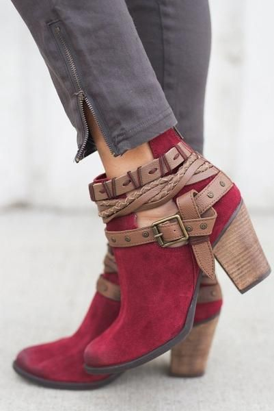 Women/'s Stylish Zip Up Buckle Low Heel Ankle Bootie Shoes All Size 5.5-10 NEW