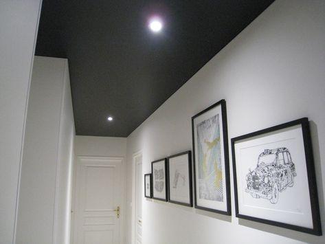 Décoration, Rénovation à Toulouse 31 un Plafond Tendu Extenzo Noir - plafond salle de bain pvc