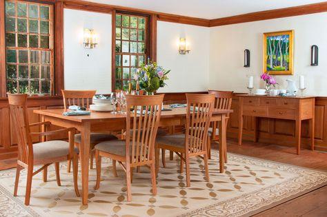 Elegant Dining Room Arrangement, complete with heirloom cherry furniture.
