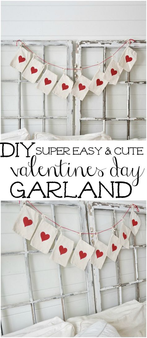 DIY Valentines Day Garland