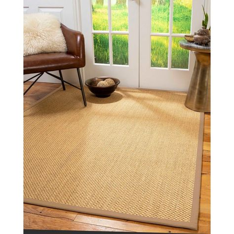 Natural Area Rugs 100 Natural Fiber Handmade Rustic Gold Sisal