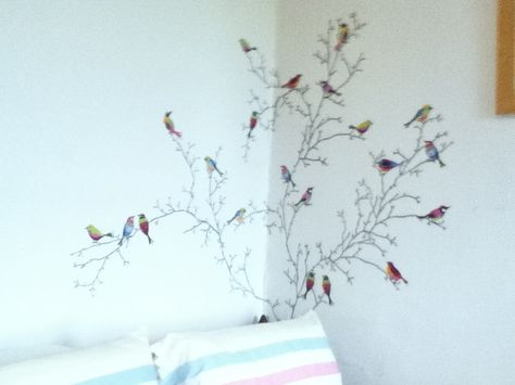 bird wall stickers from ikea. perfect for making rooms look brighter