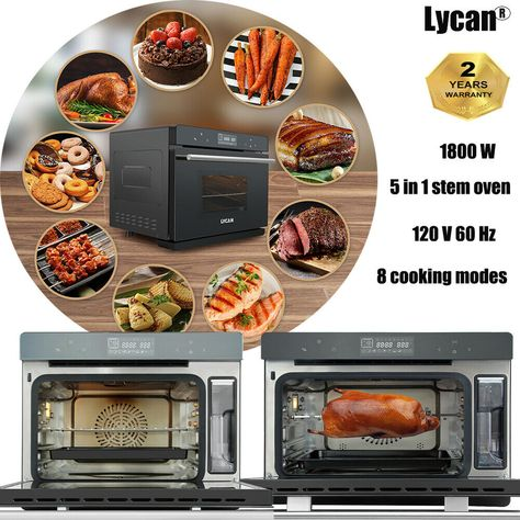 Details About Lycan 5in1 Countertop Convection Toaster Steam Oven