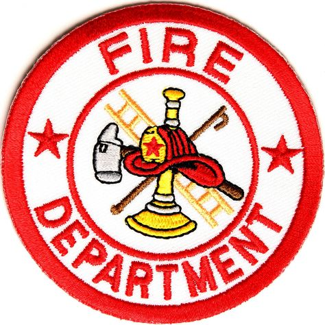 FIRE FIGHTER FIRE DOG DEPT DEPARTMENT EMBROIDERED PATCH 3 INCHES