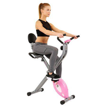 Sunny Health Fitness Magnetic Folding Recumbent Bike Exercise Bike 220lb Capacity Sf Rb1117 Walmart Com Biking Workout Recumbent Bike Workout Physical Fitness