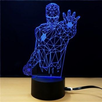 Share Get It Free M Sparkling Td013 Creative Superhero 3d Led Lampfor Fashion Lovers Only 80 000 Items Free Shipping Join Dressl Lamp 3d Led Lamp Led Lamp